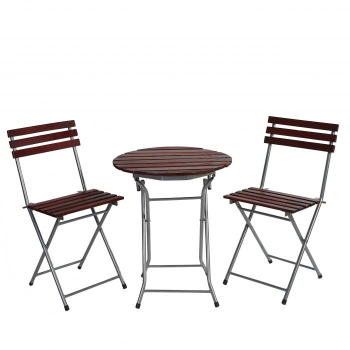 biergarten garnitur garmisch bistro set garten set tisch st hle ge lt dunkelbraun. Black Bedroom Furniture Sets. Home Design Ideas