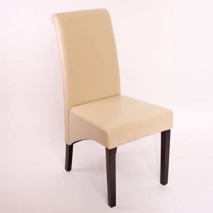 6x esszimmerstuhl lehnstuhl stuhl m37 leder creme dunkle f e. Black Bedroom Furniture Sets. Home Design Ideas