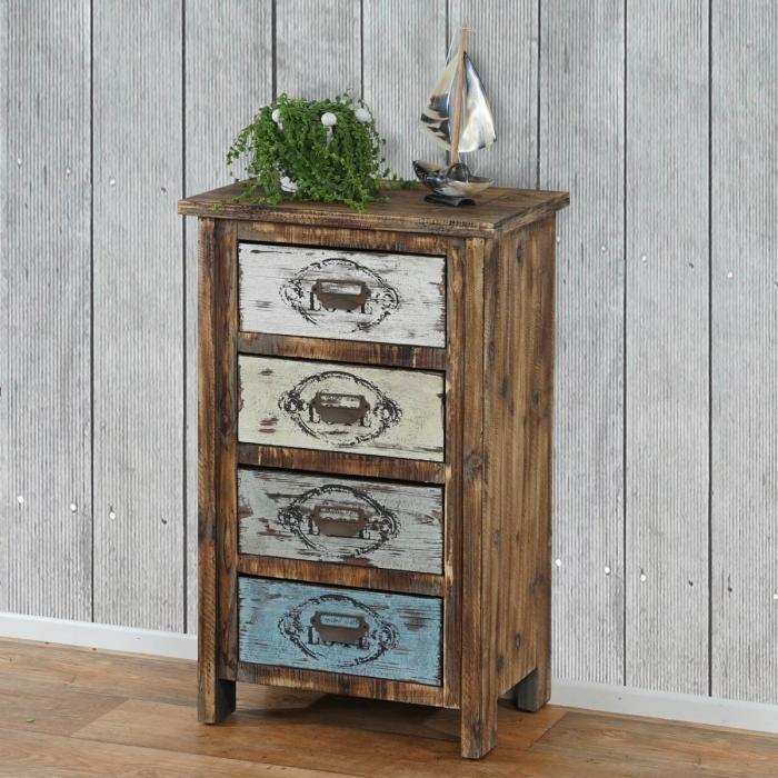 kommode cadiz schubladenkommode schrank shabby look vintage 79x48x33cm. Black Bedroom Furniture Sets. Home Design Ideas