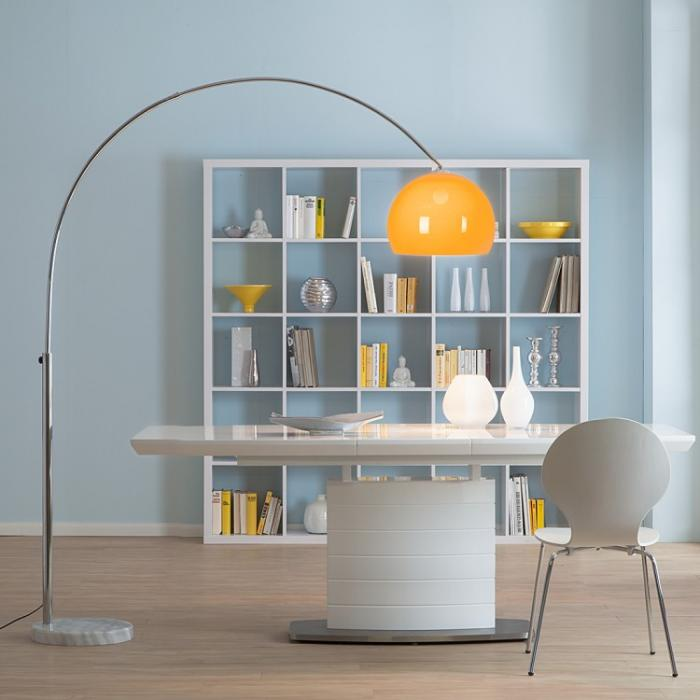 LED Bogenlampe LOUNGE DEAL II Stehleuchte, chrom, 5W-LED, EEK A+~ orange, 180cm