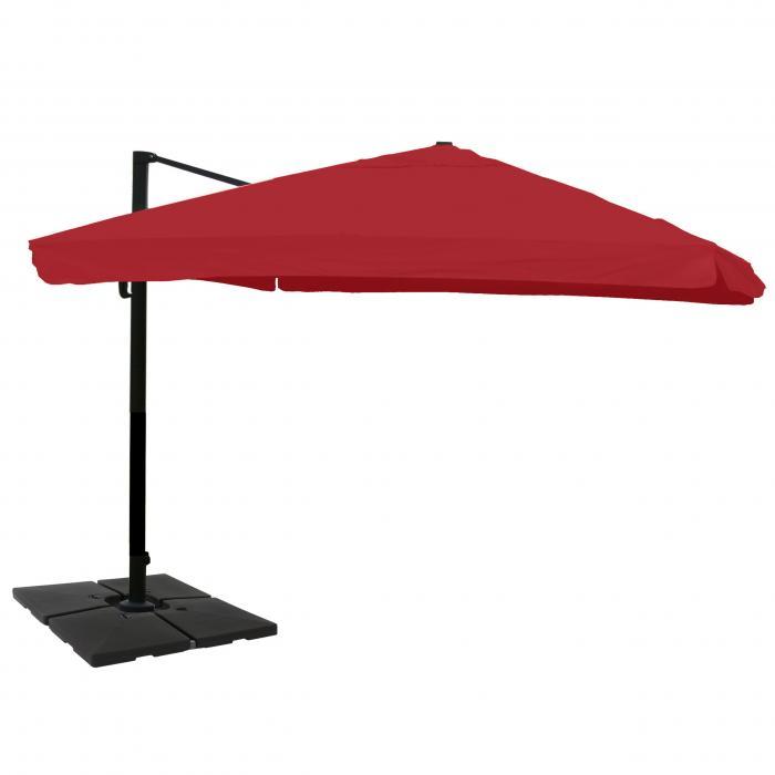 gastronomie ampelschirm n22 sonnenschirm 3x4m 5m polyester alu 26kg flap bordeaux mit st nder. Black Bedroom Furniture Sets. Home Design Ideas