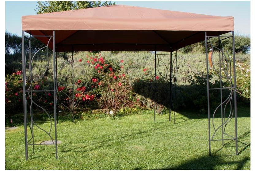 gartenpavillon pavillon gazebo eckig 3x3 m ebay. Black Bedroom Furniture Sets. Home Design Ideas