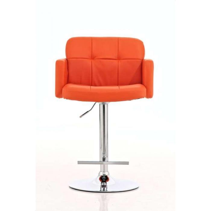 Barhocker los angeles kunstleder orange for Barhocker orange