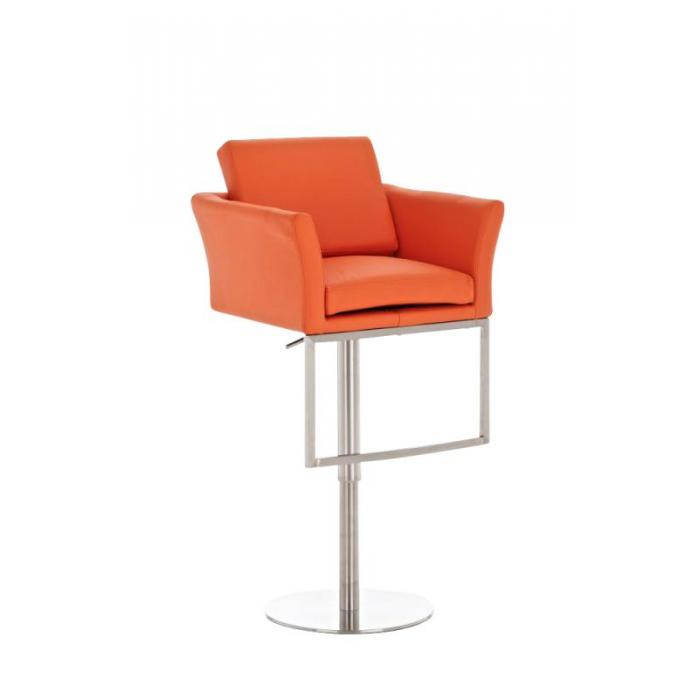 Barhocker cp126 barstuhl kunstleder orange for Barhocker orange