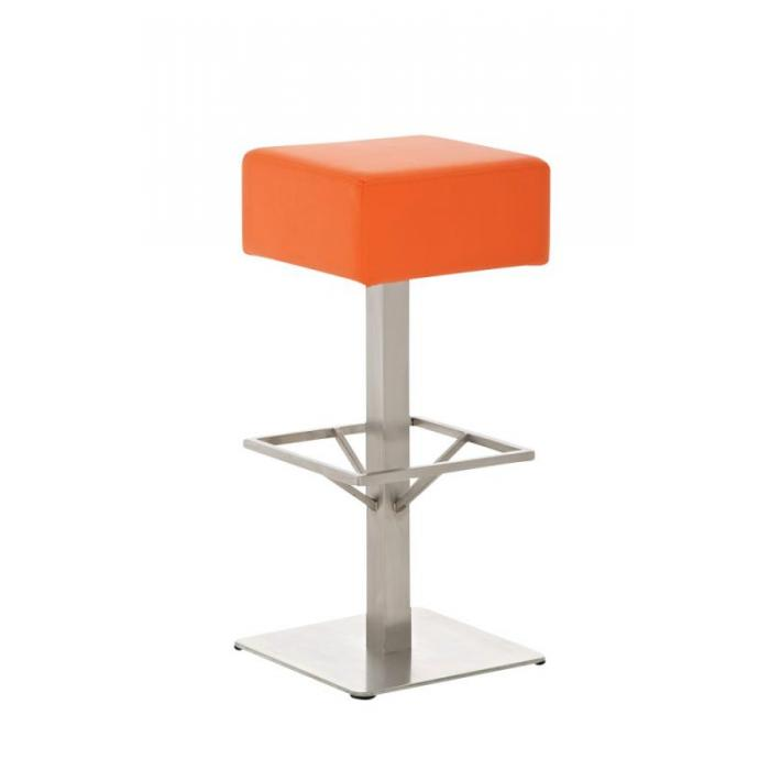 Barhocker CP139, Barstuhl ~ Kunstleder, 76cm, orange
