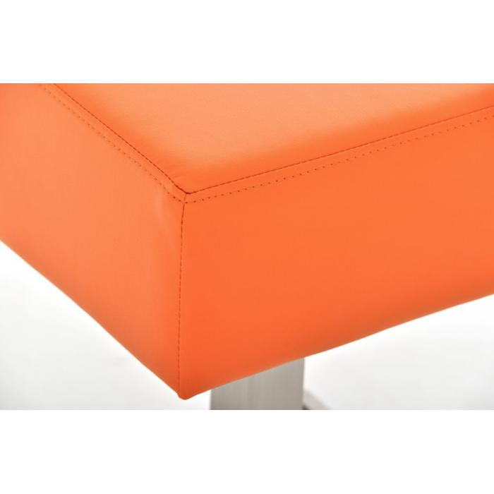 Barhocker CP139, Barstuhl ~ Kunstleder, 85cm, orange
