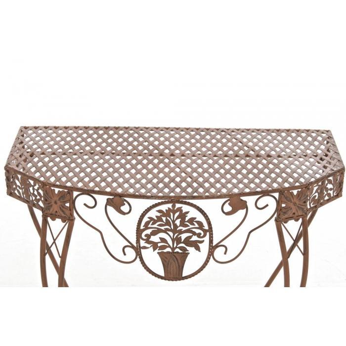 blumentisch navan gartentisch tisch metall antik braun. Black Bedroom Furniture Sets. Home Design Ideas