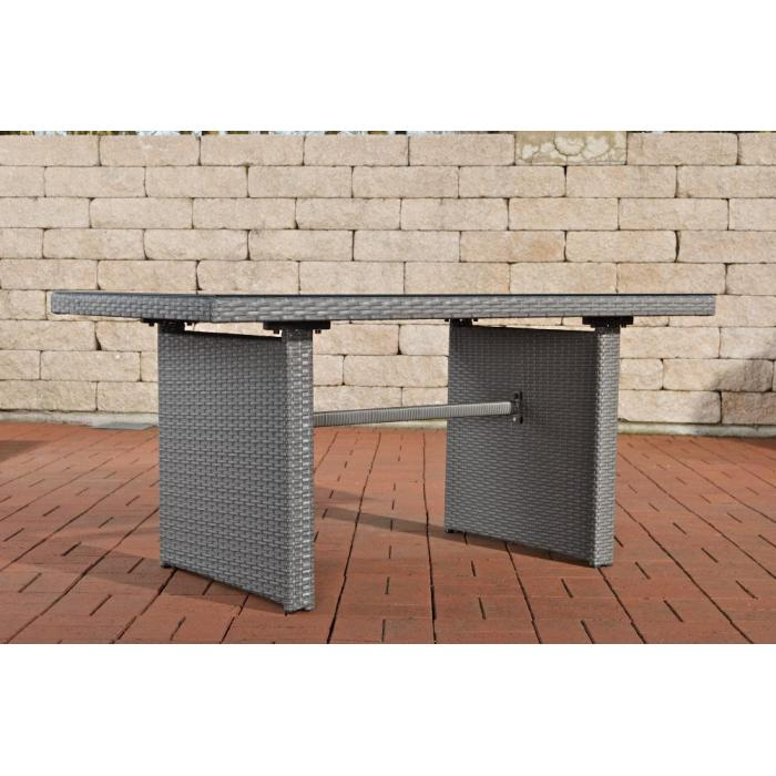 poly rattan gartentisch cp314 tisch esszimmertisch grau. Black Bedroom Furniture Sets. Home Design Ideas