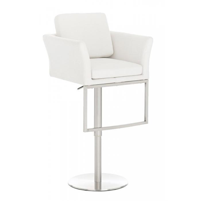 barhocker cp126 barstuhl stoff wei. Black Bedroom Furniture Sets. Home Design Ideas