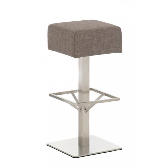 barhocker cp139 barstuhl textil 76cm grau. Black Bedroom Furniture Sets. Home Design Ideas