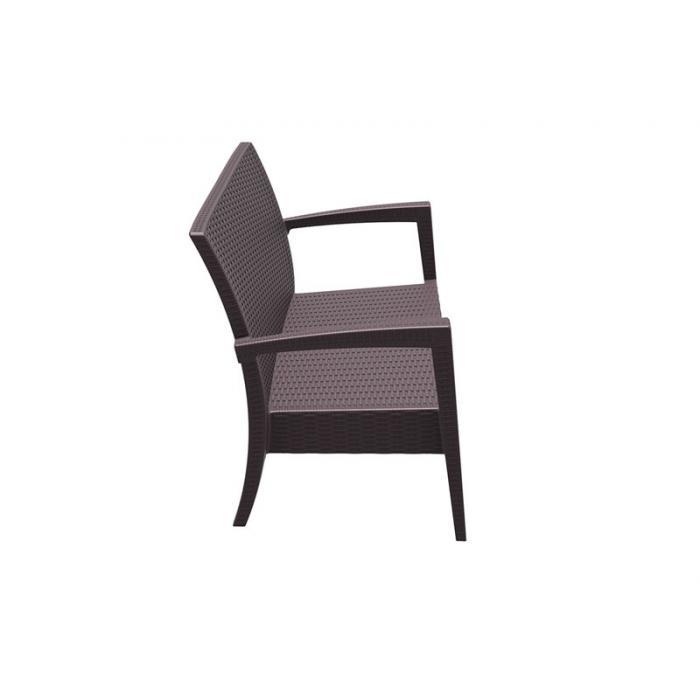 2er Sofa Cp045 2 Sitzer Lounge Sofa Poly Rattan Braun