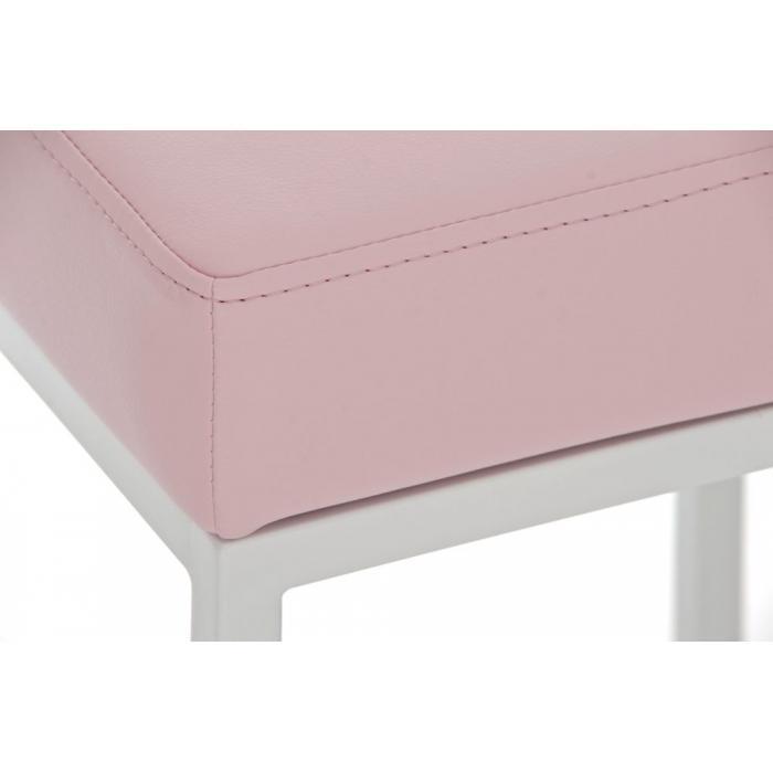 Barhocker cp135 barstuhl gestell wei kunstleder 80cm for Barhocker pink