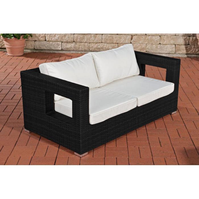 2er Sofa Cp051 2 Sitzer Poly Rattan Schwarz