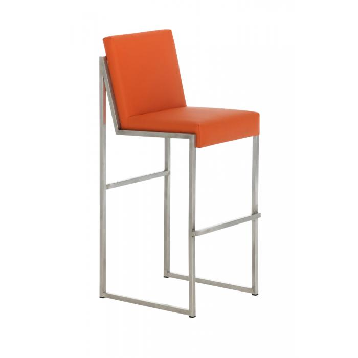Barhocker cp192 barstuhl gestell edelstahl orange for Barhocker orange