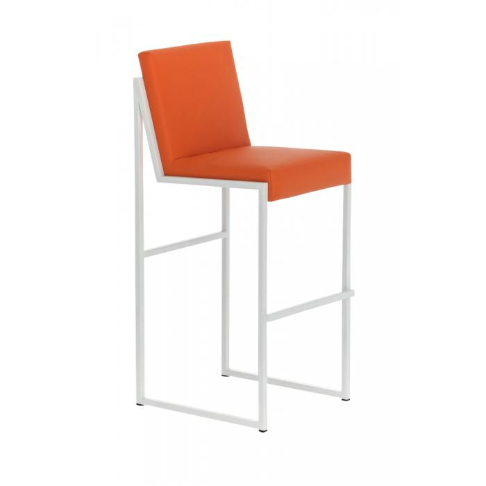 Barhocker cp192 barstuhl gestell wei orange for Barhocker orange