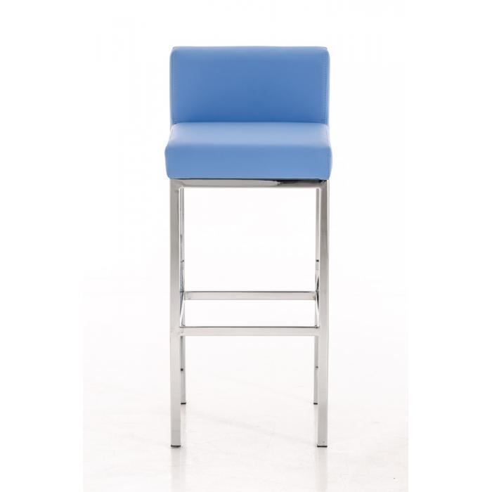 barhocker cp140 barstuhl gestell chrom kunstleder blau. Black Bedroom Furniture Sets. Home Design Ideas