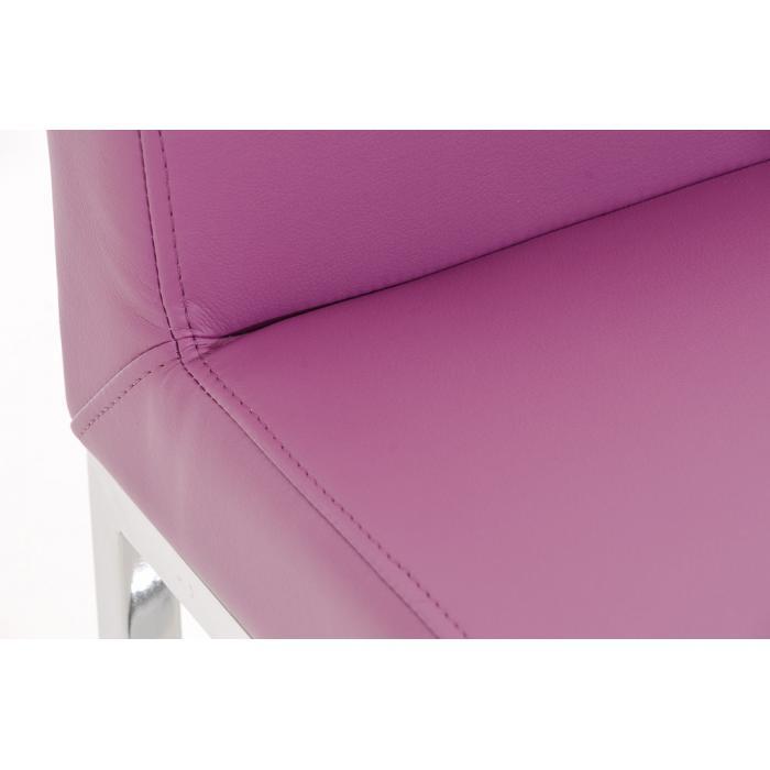 barhocker cp140 barstuhl gestell chrom kunstleder lila. Black Bedroom Furniture Sets. Home Design Ideas
