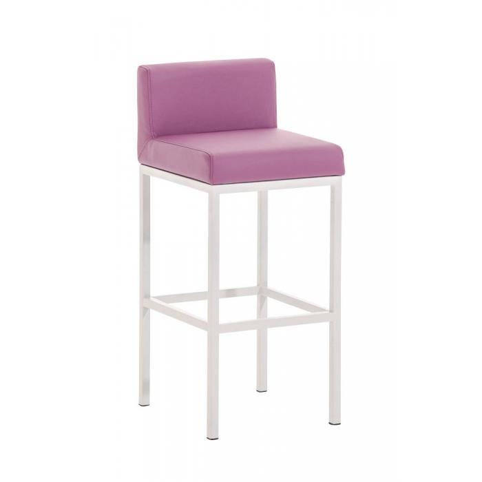 barhocker cp140 barstuhl gestell wei kunstleder lila. Black Bedroom Furniture Sets. Home Design Ideas