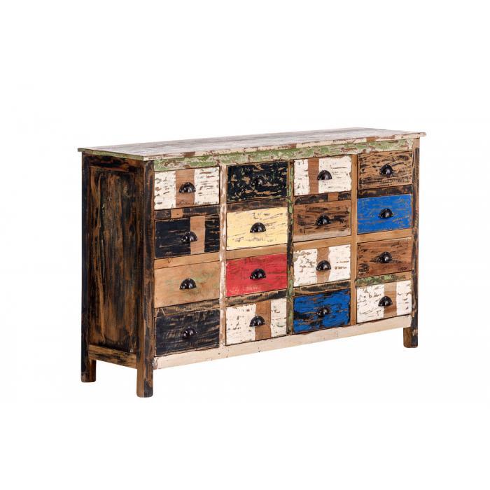 kommode cp331 schubladenkommode schrank teakholz shabby. Black Bedroom Furniture Sets. Home Design Ideas