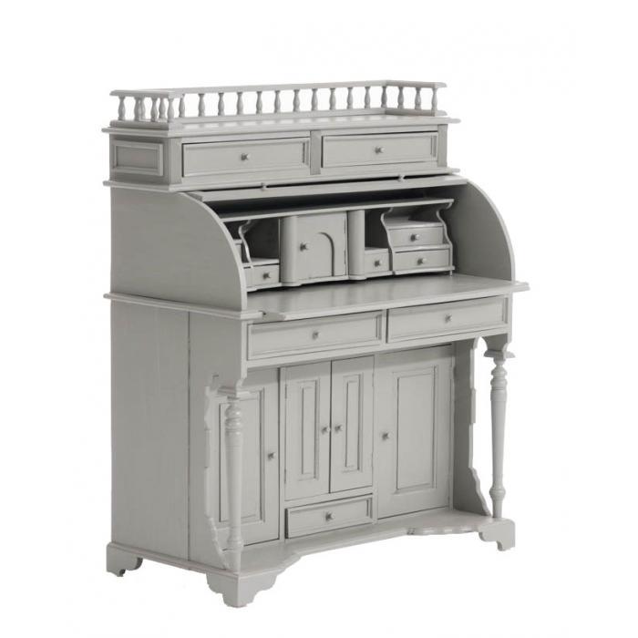 sekret r cp571 schreibtisch schreibpult schrank mahagoni tischplatte ausziehbar grau. Black Bedroom Furniture Sets. Home Design Ideas