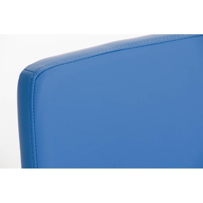 barhocker cp183 barstuhl gestell silber kunstleder blau. Black Bedroom Furniture Sets. Home Design Ideas