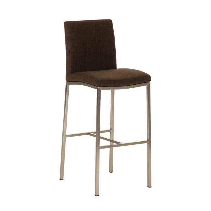 barhocker cp136 barstuhl textil braun. Black Bedroom Furniture Sets. Home Design Ideas