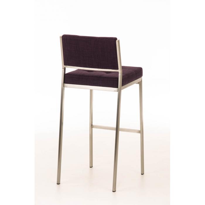 barhocker cp125 barstuhl gestell edelstahl textil lila. Black Bedroom Furniture Sets. Home Design Ideas