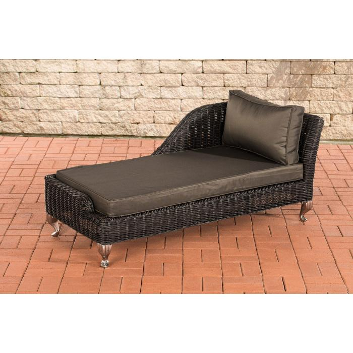 recamiere cp055 liege poly rattan kissen anthrazit. Black Bedroom Furniture Sets. Home Design Ideas