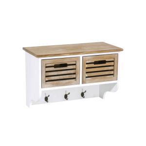 Wandgarderobe CP284, Wandregal ~ braun