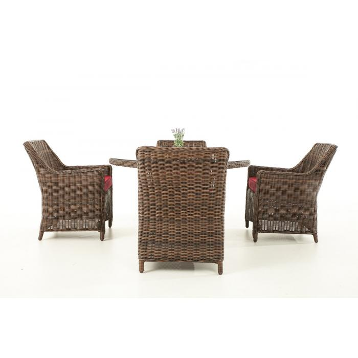garten garnitur cp064 sitzgruppe lounge garnitur poly rattan kissen rubinrot braun meliert. Black Bedroom Furniture Sets. Home Design Ideas