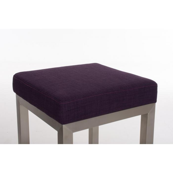 barhocker cp475 barstuhl gestell silber textil 80cm lila. Black Bedroom Furniture Sets. Home Design Ideas
