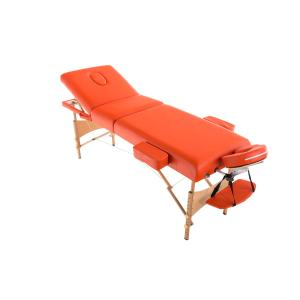 Massageliege CP587, Kosmetikliege Massagebank Massagetisch, h�henverstellbar ~ orange