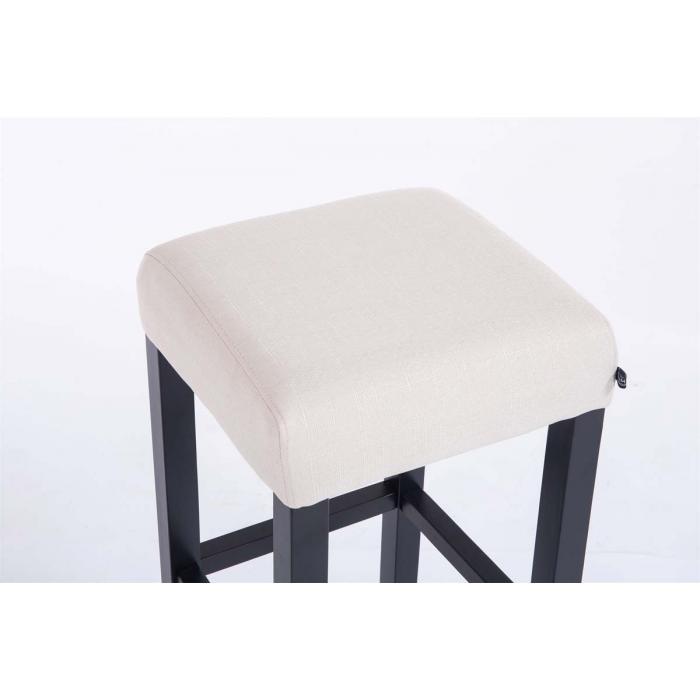 barhocker cp597 barstuhl 80x37x37cm textil gestell schwarz creme. Black Bedroom Furniture Sets. Home Design Ideas