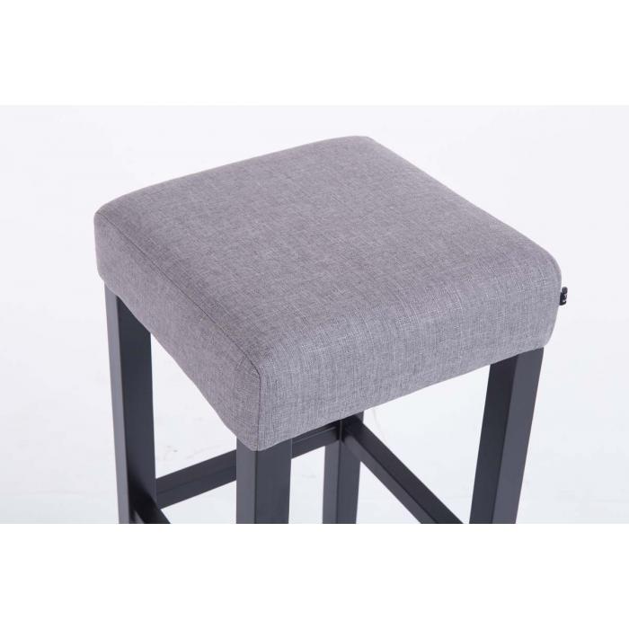 barhocker cp597 barstuhl 80x37x37cm textil gestell schwarz hellgrau. Black Bedroom Furniture Sets. Home Design Ideas