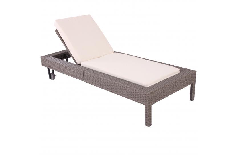 gartenliege polyrattan grau innen und m belideen. Black Bedroom Furniture Sets. Home Design Ideas