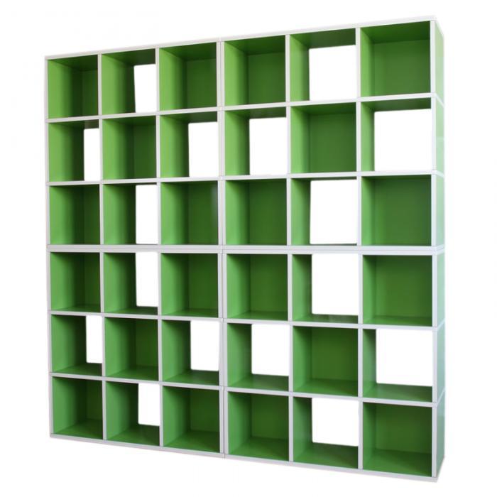 4x modul regal standregal m73 186x186x30 cm gr n. Black Bedroom Furniture Sets. Home Design Ideas
