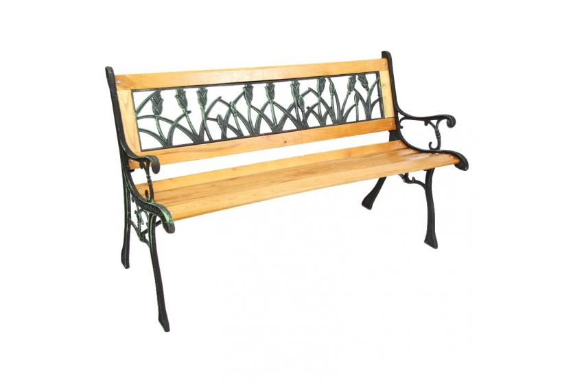 gartenbank sitzbank gusseisen bank gr n od bronze ebay. Black Bedroom Furniture Sets. Home Design Ideas