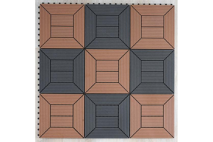 wpc 35 holzfliese terrassenfliese f outdoor 11 fliesen 1m vers 2 natur ebay. Black Bedroom Furniture Sets. Home Design Ideas