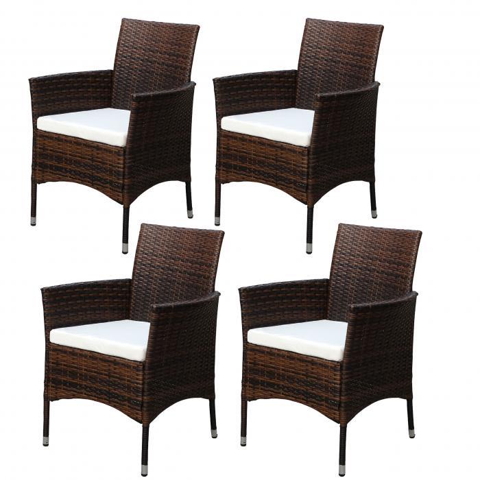 4x poly rattan gartensessel ariana korbsessel inkl. Black Bedroom Furniture Sets. Home Design Ideas
