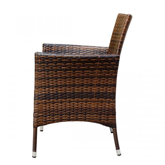 2x poly rattan gartensessel ariana korbsessel inkl. Black Bedroom Furniture Sets. Home Design Ideas