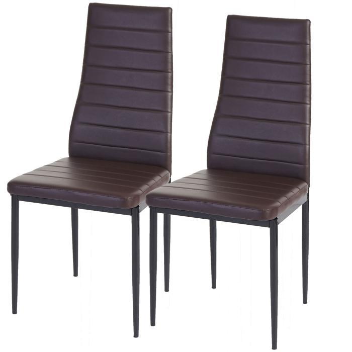 2x esszimmerstuhl lixa stuhl lehnstuhl kunstleder braun for Kunstleder stuhl braun