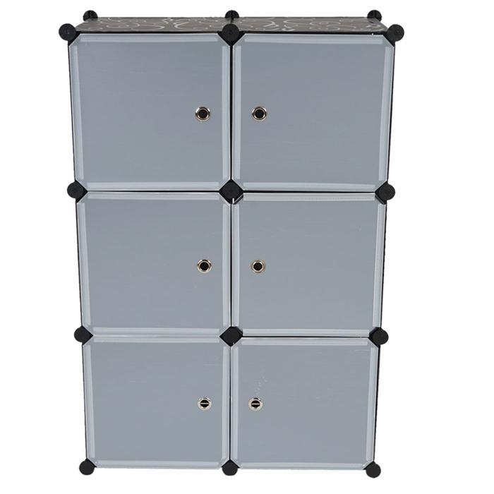 regalsystem sydney t307 steckregal schrank aufbewahrung 6 boxen je 36x36x36cm schwarz. Black Bedroom Furniture Sets. Home Design Ideas