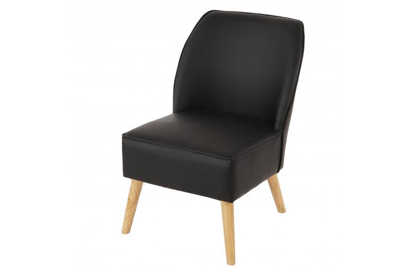 Sessel vaasa t312 loungesessel polstersessel schwarz for Polstersessel leder