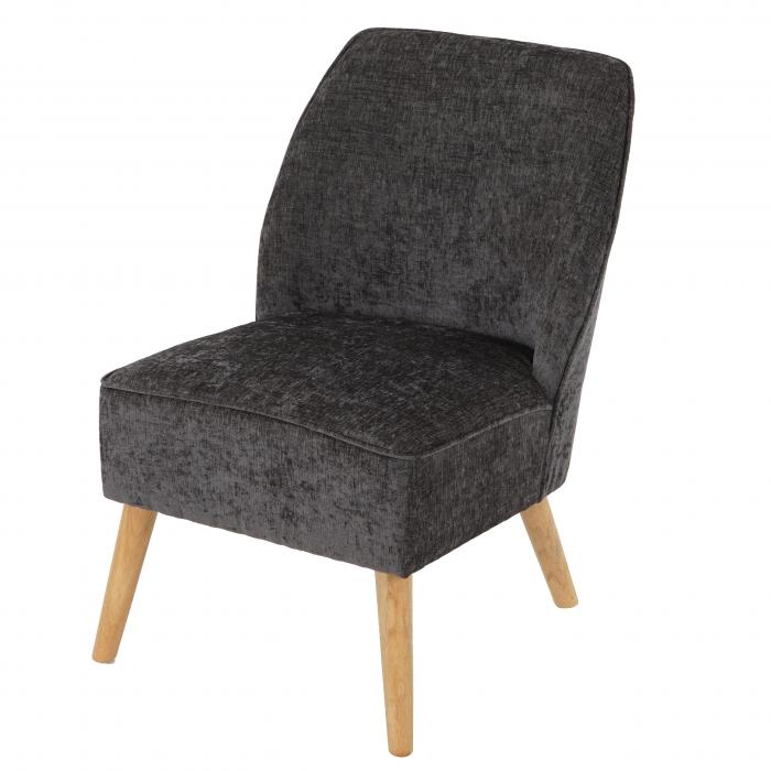 Sessel Malm� T312, Loungesessel Polstersessel, Retro 50er Jahre Design ~ grau, Textil