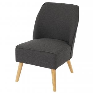 Sessel Malm� T312, Loungesessel Polstersessel, Retro 50er Jahre Design ~ anthrazit, Textil