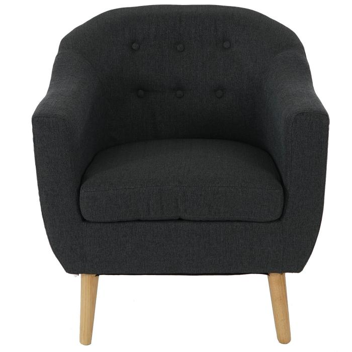 sessel malm t314 loungesessel polstersessel retro 50er jahre design anthrazit textil. Black Bedroom Furniture Sets. Home Design Ideas