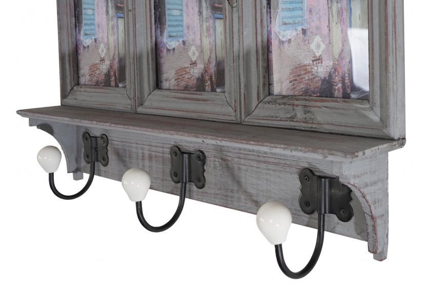 garderobe halifax wandgarderobe mit bilderrahmen 35x56x9cm. Black Bedroom Furniture Sets. Home Design Ideas