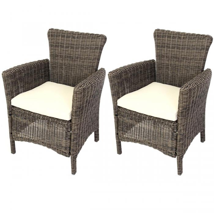 2x luxus poly rattan alu gartensessel korbsessel romv 85. Black Bedroom Furniture Sets. Home Design Ideas