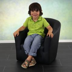 Kindersessel Madison, Kinderm�bel Sessel Kinder, Kunstleder ~ schwarz