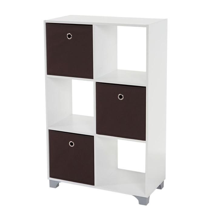 regal t364 standregal holzregal wei inkl 3 faltboxen. Black Bedroom Furniture Sets. Home Design Ideas